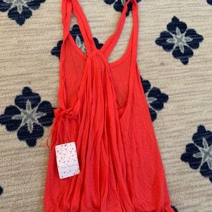 Tops - Red free people tank NWT